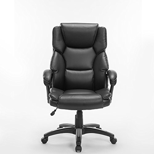 Ergonomic pu leather high back office chair comfortable for Best chair for working at home