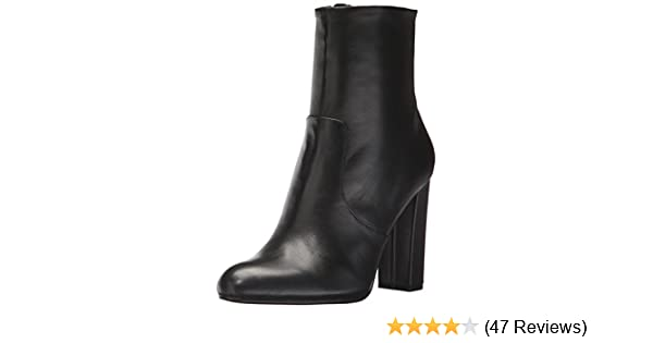 ec657480af4 Amazon.com  Steve Madden Women s Editor Ankle Boot Black Leather 9 M US   Shoes