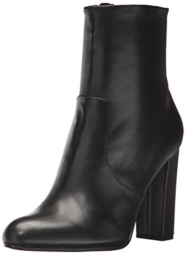 Steve Madden Women's Editor Ankle Boot, Black Leather, 6.5 M US