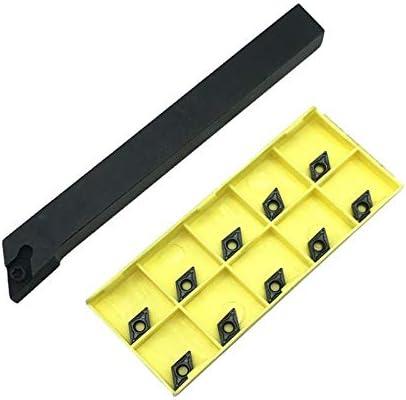 GENERICS LSB-Werkzeuge, 10 stücke DCMT070204 Wendeplatten + 1 stücke SDJCR1212 SDJCL1212H07 SDJCR1010 drehwerkzeug bit Metalldrehmaschine Schneidwerkzeug Set