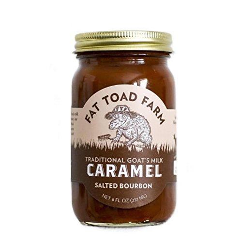 Fat Toad Farm Classic Caramel Jar, Salted Bourbon, 8oz, Goat's Milk, Cajeta, Gluten-Free