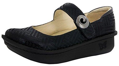 Alegria Womens Paloma Mary Jane Clog Black Dazzler Size 37 EU (7-7.5 M US Women)