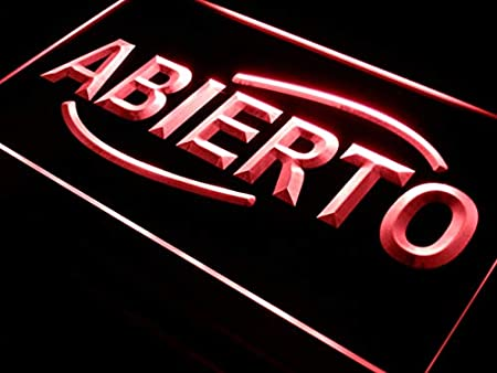 Cartel Luminoso ADV PRO i535-r ABIERTO Food Cafe Restaurant NEW Neon Light Sign