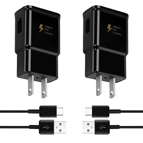 Adaptive Fast Charging Type C Charger for Samsung Galaxy s10/ s10+/ s10e/s9/ s9 Plus/S21/S21+/S21 Ultra/S20/S20+/S20/S20 FE/S8/Note 20/Note 10/Note 9/ Note 8, USB Wall Charger Adapter with USB C Cable