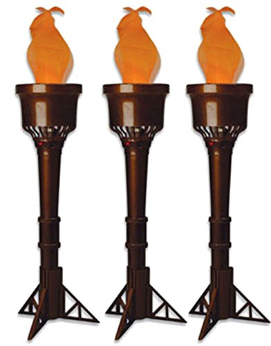Olympic Torch Costume (Set of 3 Electric Faux-Flame Battery Operated Torches)
