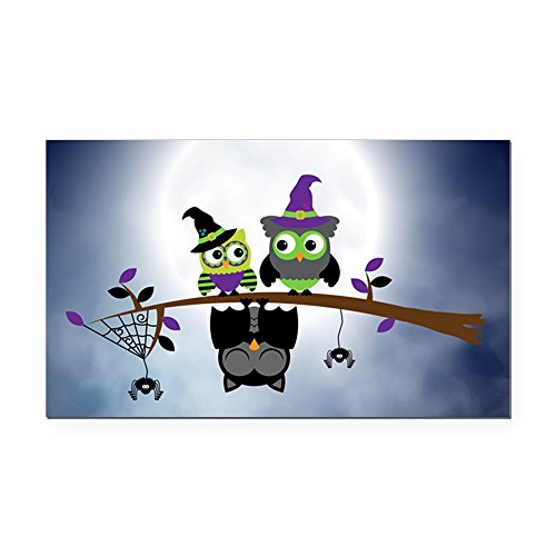 (Rectangle Car Magnet Little Spooky Vampire Owl with Friends)
