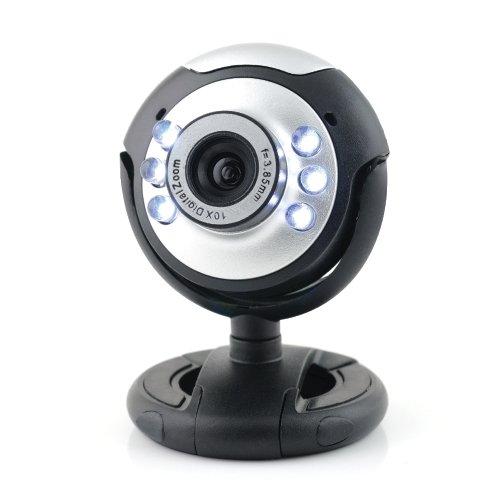16 opinioni per Sogatel- Webcam 6 LED compatibile Skype con microfono- Windows e Mac (Microfono