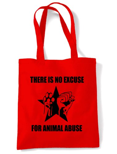 Tote Abuse Shoulder Animal For There Is Excuse Bag Red No wqxUZYYSX