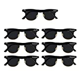 Bachelor Party 7pcs Clubmaster Weddings Gift Sunglasses for Groom, Best man, Groomsman