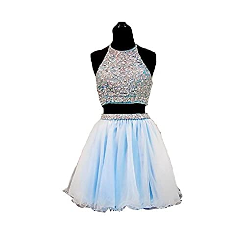 Light Blue Junior Prom Short Formal Dresses