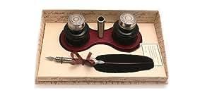 Coles - Conjunto de caligrafía con pluma, 2 tinteros y soporte para pluma