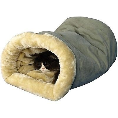 Heated Pet Bed Dog Cat Winter Warm Soft Cave Sleeping Shelter Rescue Plush Nest by Everything Jingle Bell
