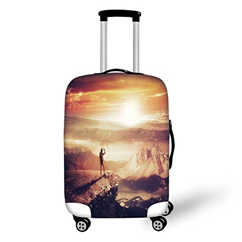 Travel Luggage Cover Suitcase Protector,Adventure,Traveler W