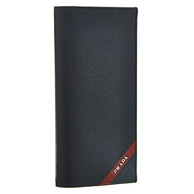 (新品) ※訳あり商品※ 二つ折り財布 PRADA ネイビー 2MO738 SAFFIANO TRIANG BALTICO メンズ