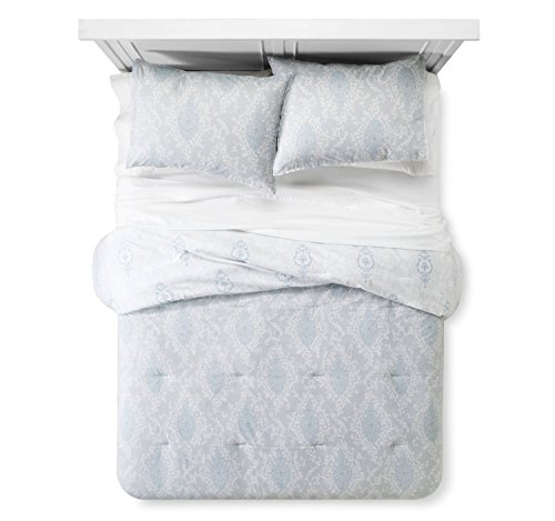 (Printed Damask Comforter and Sham Set - Simply Shabby Chic TWIN)