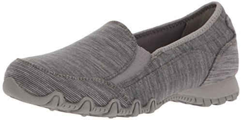 Skechers Womens Bikers-Lounger Slip-on Loafer Charcoal