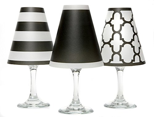 di Potter WS136 Nantucket Paper White Wine Glass Shade, Black (Pack of -