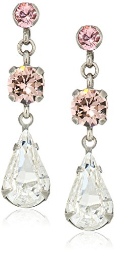 (Sorrelli Crystal Rose Tiger Lily Trio Drop Earrings)