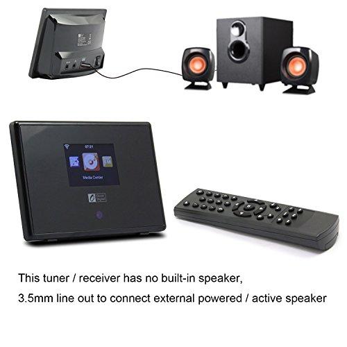 Ocean Digital WiFi Internet Radio Adapter Tuner Receiver IRT01C Wireless Connection Desktop Media Player Alarm Clock- Black by Ocean Digital (Image #3)
