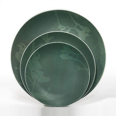 Painted Garden Green Small Round Plate