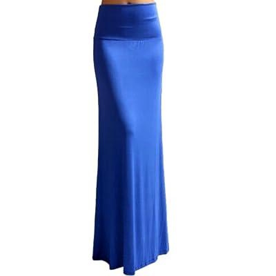 Zago Womens High Waisted Solid Mermaid Slim Bodycon Long Skirts Dress