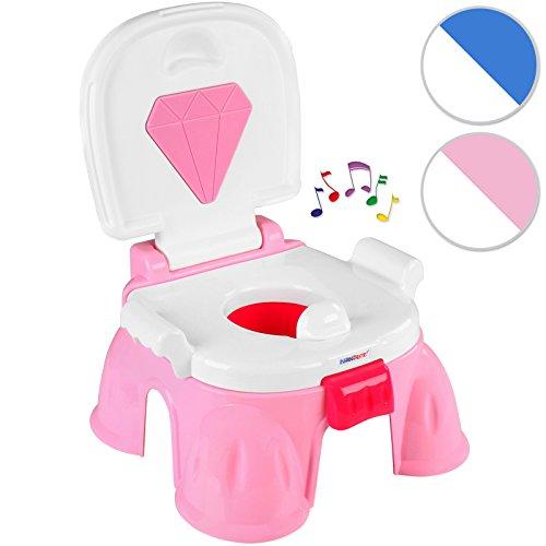 Infantastic Kindertoilette mit induktiver Spieldose in Pink mit hoher Rückenlehne inkl. Entspannungsmelodie