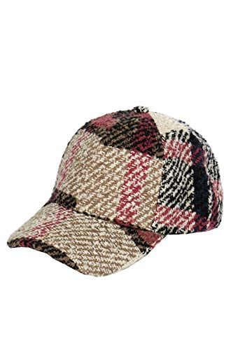 SERENITA Baseball Cap, Vintage Plaid Plain Check Woven Hat, for Activities Outdoor, Beige