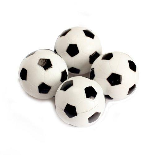 VKTECH® Lot de 4 balles de baby-foot en plastique 32 mm
