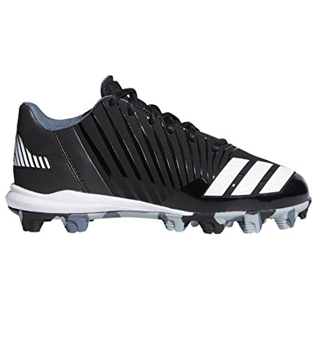 adidas Men's Freak X Carbon Mid Baseball Shoe, Core Black, Ftwr White, Onix, 3 M US Little Kid