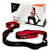 ZIN Stretching Strap with Loops, Premium Quality with Neoprene Padded Handles + eBook & Exercise Instructions & Carrying Bag Included