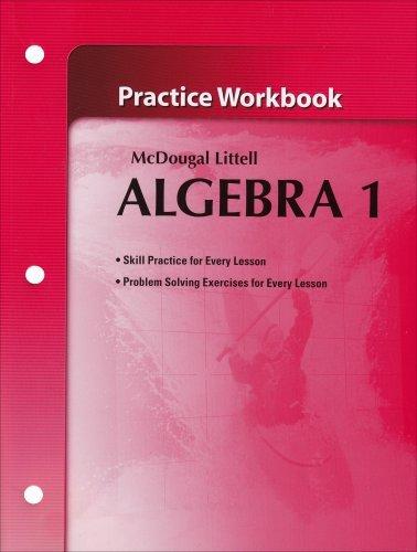 [McDougal Littel] Holt McDougal Larson Algebra 1: Practice Workbook - Paperback