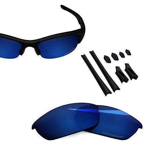 BlazerBuck Anti-salt Polarized Replacement Lenses & Sock kit for Oakley Flak Jacket - Midnight Blue
