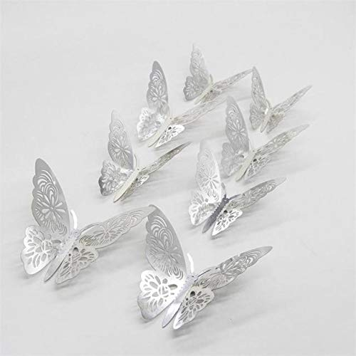 Vanessa Gay Wall Stickers Butterfly Silver Mirror Decoration