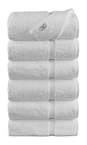 Luxury Hotel & Spa Towel 100% Genuine Turkish Cotton (White, Hand Towel - Set of 6) by Chakir Turkish Linens