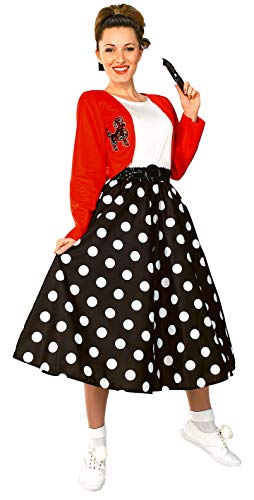 50 S Costumes (Rubie's Fabulous 50's Polka Dot Sock Hop Girl, Multicolored, One Size)