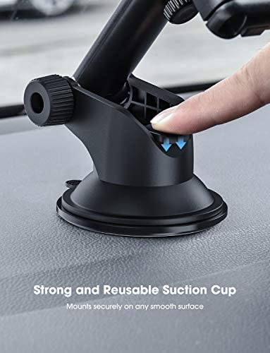 Mpow Car Phone Mount,Washable Strong Sticky Gel Pad with One-Touch Design Dashboard Car Phone Holder for iPhone 8/8Plus/7/7Plus/6s/6Plus/5S, Galaxy S5/S6/S7/S8, Google Nexus, LG, Huawei and More 41KDnxNaBZL