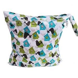 tmodd para bebé impermeable Zipper paño reutilizable bolsa de pañales (mar León Lodge y # xFF09;