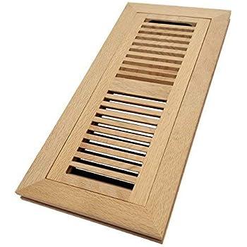 Homewell White Oak Wood Floor Register Flush Mount Vent