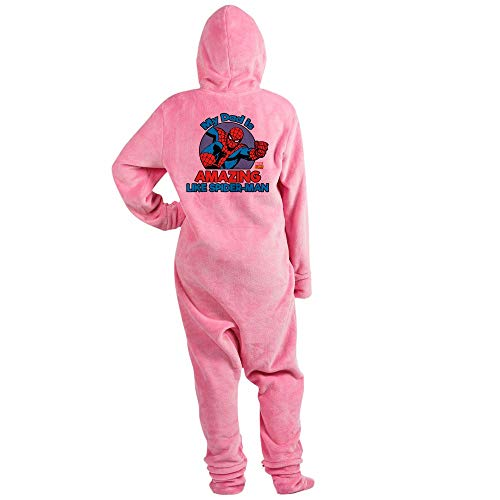 CafePress My Dad is Amazing Like Spider Man Novelty Footed Pajamas, Funny Adult One-Piece PJ Sleepwear Pink]()
