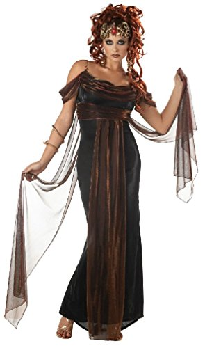 [Fancy Greek Medusa The Mythical Siren Adult Costume] (Medusa Childs Halloween Costume)