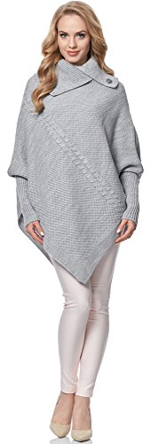 Poncho Gris MSSE0022 Style Femme Merry pour 5xwFqCIwX