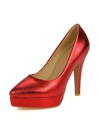 ShangYi Damenschuhe - High Heels - Hochzeit / Büro / Party & Festivität - Kunstleder - Stöckelabsatz - Absätze - Schwarz / Rot / Silber / Gold Black