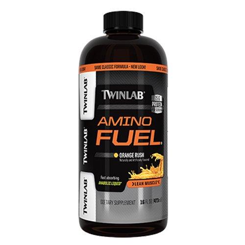 Twin Lab Amino Fuel, Anabolic Liquid, Orange Rush, 16-Ounce