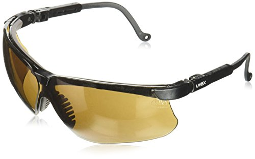 Genesis Ballistic Lens - Uvex S3201 Genesis Safety Eyewear, Black Frame, Espresso Ultra-Dura Hardcoat Lens