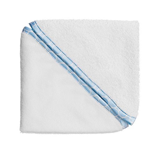 (SwaddleDesigns Cotton Terry Velour Baby Washcloths, Set of 2, Pastel Blue Mini Mod Circles)