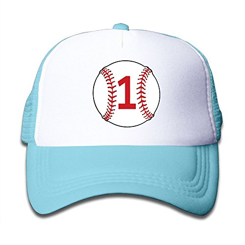ONE-HEART HR Baseball 1st Birthday Kid's Baseball Cap Mesh Adjustable Trucker Hat For Boy Girl - First Braves Cap
