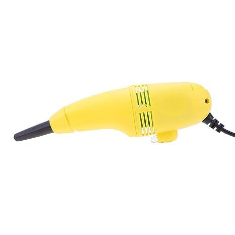 YouN Mini USB Aspiradora Teclado Limpiador de polvo para Ordenador Portatil PC (Color al azar