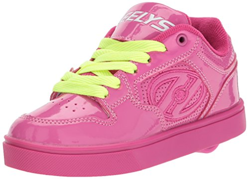 Heelys Girls' Motion Plus Sneaker, Berry/Patent, 3 Medium US Big Kid -