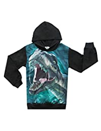 CM-Light Toddler Boys Hoodie Jacket Coat Dinosaur Pullover Clothes Outwear