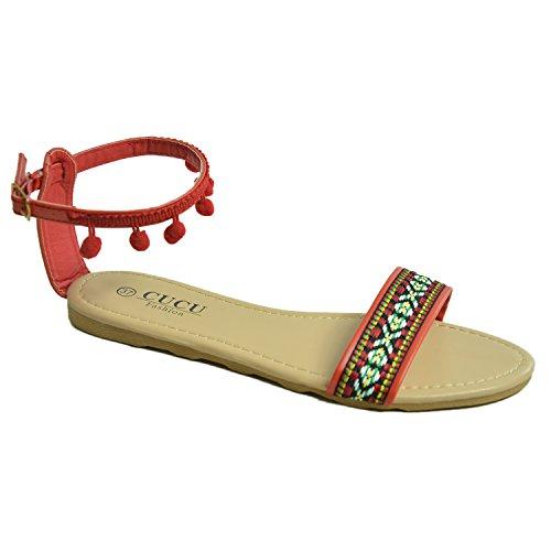 Cucu Fashion - Zapatos de tacón  mujer Red